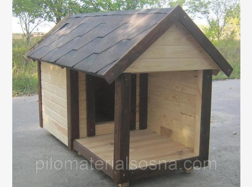 Будка для собаки с открытой верандой