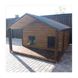 Будка для большой собаки | Закрытая и Открытая веранда | Блокхауз