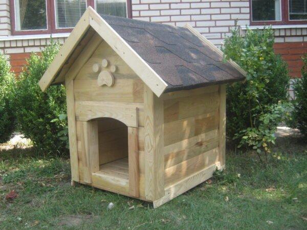 Собачья будка с украшением