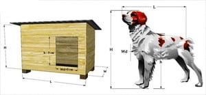 Расчет размера будки для собаки