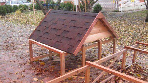 съемная двускатная крыша-будка-большая-собака