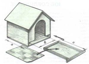 Выдвижной пол для собачьей будки