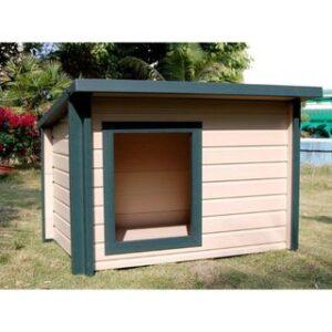 Будка для собаки з односхилим дахом | фото