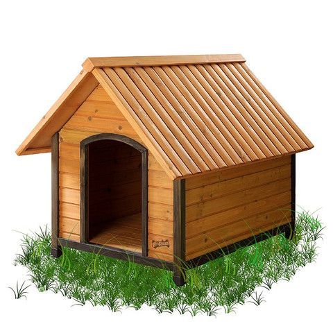 Собача будка з двосхилим дахом | фото