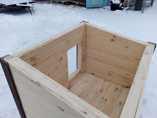 Будка со съемной крышей