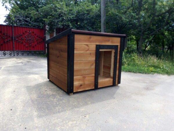 Барбос - будка для собаки с односкатной крышей и боковым входом