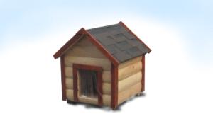 Собачья будка с крышей домиком