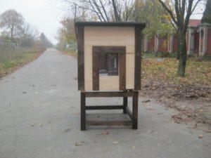 Собачья будка с силиконовой шторкой