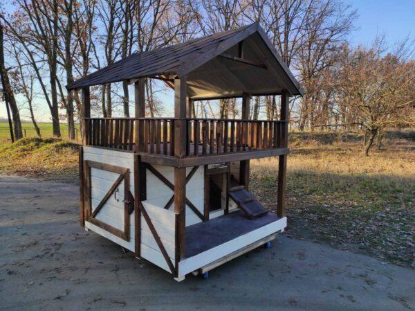 Дувхэтажная будка для сбобаки