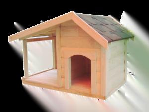 Домівка для собаки з верандою