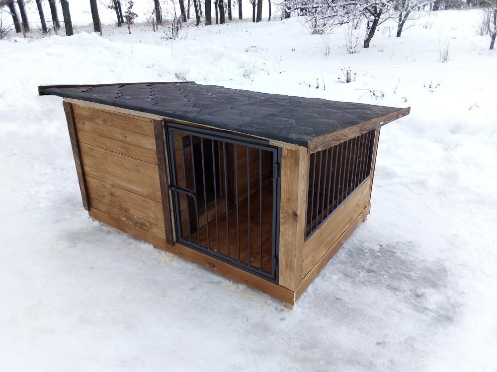 утепленная будка с минивольером